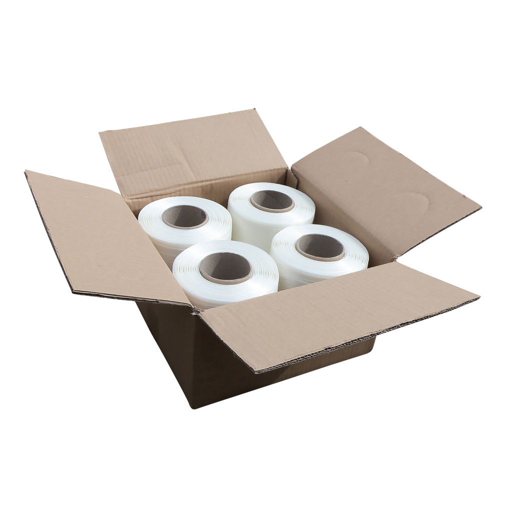 13mm wide baler banding - box contains 4 x 250 metre long rolls in white