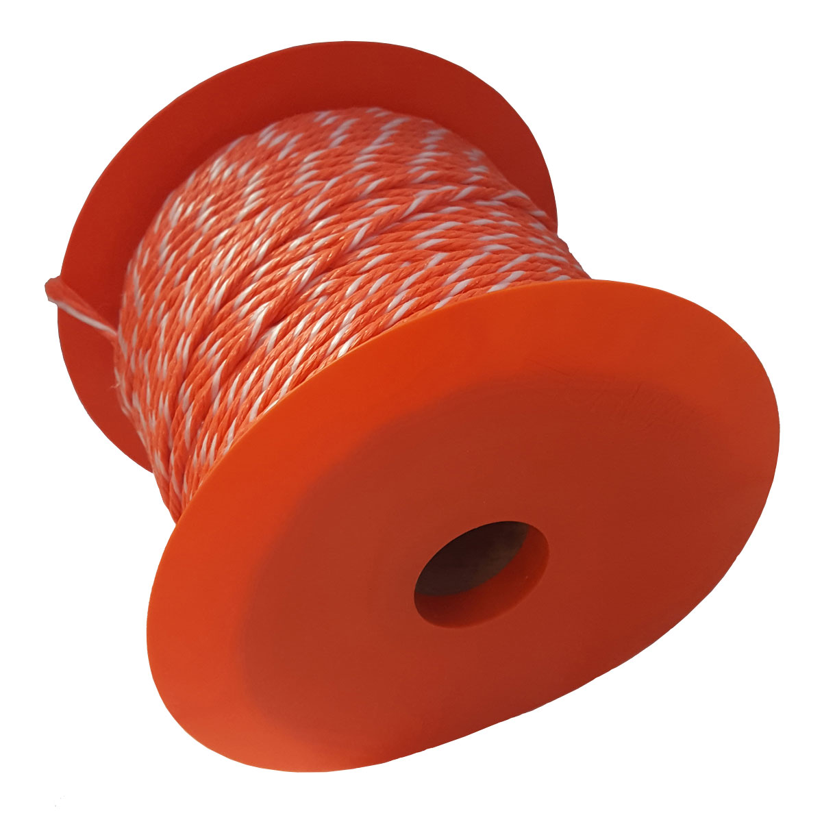 Roll of baler twine with flange