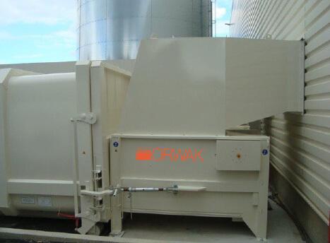 P1000 COMPACTORS HOPPER THRU WALL