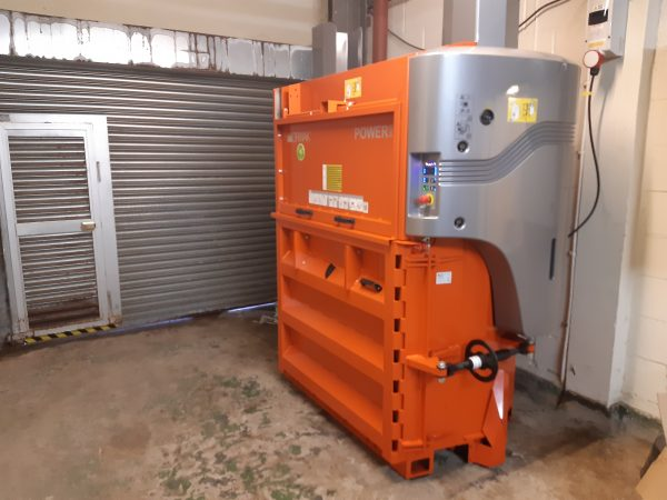 power baler in place